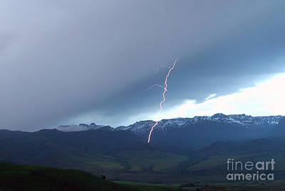 North Fork Lightning Original by J L Woody Wooden