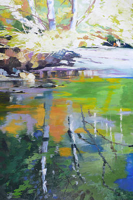 Northwest Mixed Media - North Fork Silver Creek by Melody Cleary