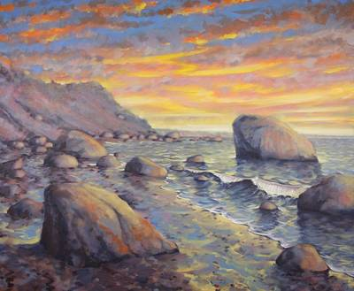 North Fork Sunset Original by Gary Long
