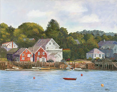 Penobscot Bay Painting - North Haven Island Maine by Tommy Thompson