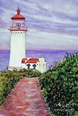 Shower Head Painting - North Head Light House On The Washington Coast by Cynthia Pride