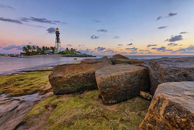 Photograph - North Jetty Rocks by Claudia Domenig