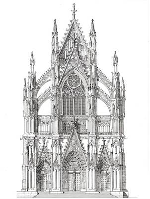North Portal Cologne Cathedral Germany Original by John Simlett