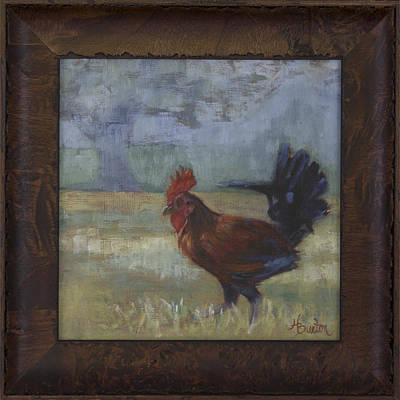 Heather Burton Painting - North Shore Rooster by Heather Burton