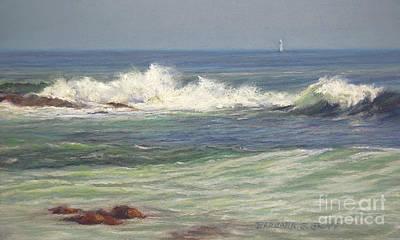 North Shore Waves Original by Barbara Groff