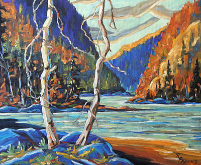 Quebec Painting - North West Lake By Prankearts by Richard T Pranke