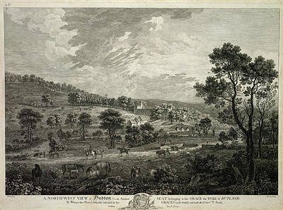North-west View Of Haddon Print by British Library