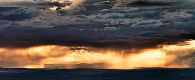 North Wyoming Rain Print by Leland D Howard