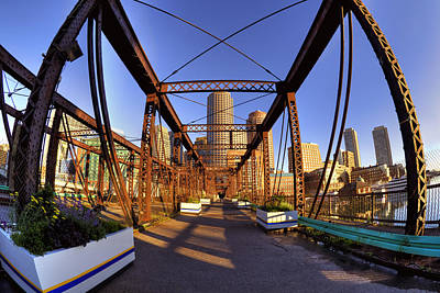 Nautical Photograph - Northern Avenue Bridge by Joann Vitali