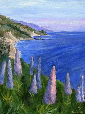 Frier Painting - Northern California Cliffs by Jamie Frier