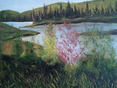 Northern Lake 2 Print by Joyce Reid