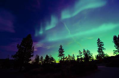 Northern Lights Aurora Borealis Original by Suranga Weeratunga