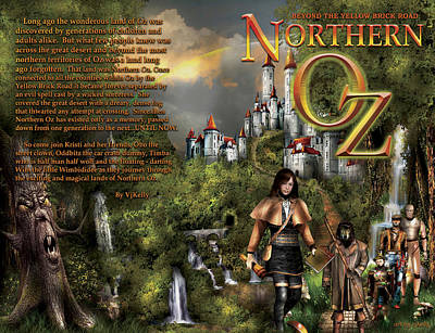 Northern Oz Front And Back Cover 2 Original by Vjkelly Artwork
