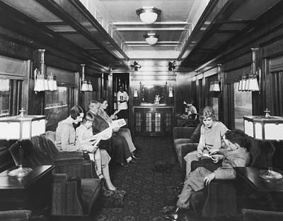 Northern Pacific Lounge Car Print by Underwood Archives