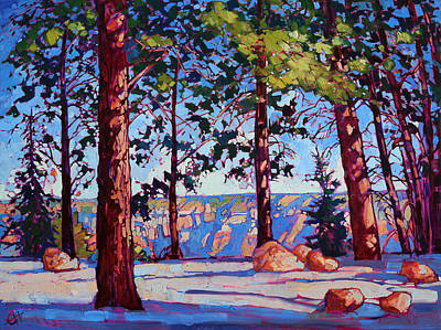 Red-rock Painting - Northern Rim by Erin Hanson