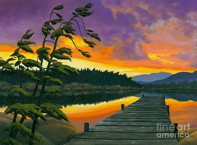 Sudbury Painting - After Glow - Oil / Canvas by Michael Swanson