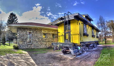 Train Depot Photograph - Northport Train Depot by Twenty Two North Photography