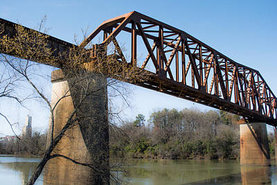 Northport Trestle Over The Tuscaloosa River Print by Parker Cunningham