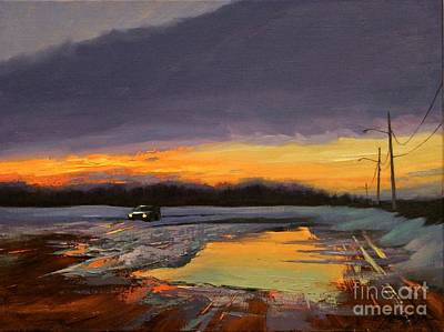 Painting - Northshore Sunset by Chin H  Shin