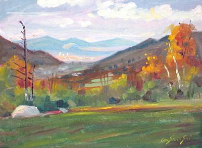Berkshire Hills Living Painting - Northward by Len Stomski