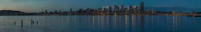 Seattle Skyline Photograph - Northwest Dusk Reflection by Mike Reid