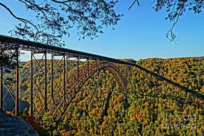 Northwest View Of Gorge Bridge Print by Timothy Connard