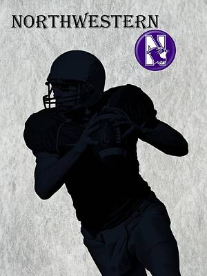 Michigan State Digital Art - Northwestern Football by David Dehner