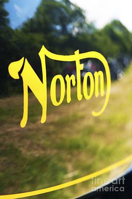 Norton Commando Abstract Original by Tim Gainey