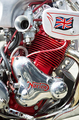 Norton Custom Cafe Racer Engine Print by Tim Gainey