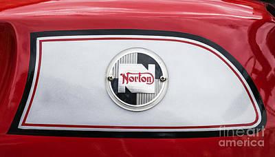 Norton Motorcycle Detail Original by Tim Gainey