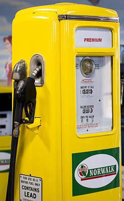 Premium Gas Photograph - Norwalk Gas Pump by Classic Visions