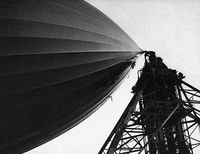 Part Of Photograph - Nose Of The Hindenburg by Underwood Archives