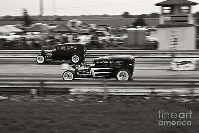 Nostalgia Drag Racing Print by Dennis Hedberg