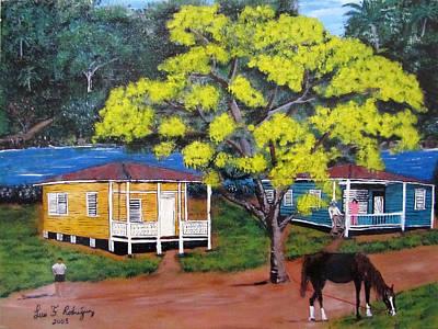 Flamboyan Tree Painting - Nostalgia by Luis F Rodriguez