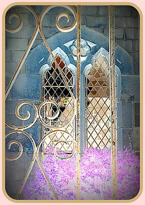 Nostalgic Church Window Print by The Creative Minds Art and Photography