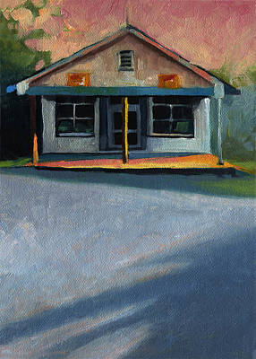 Gas Station Painting - Nostalgic Icon Hucksteps Garage And Store by Catherine Twomey