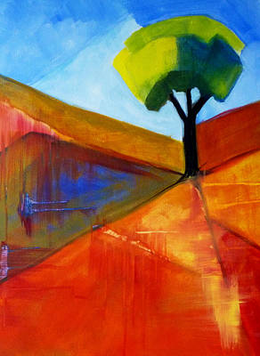 London Tube Painting - Not Alone by Nancy Merkle