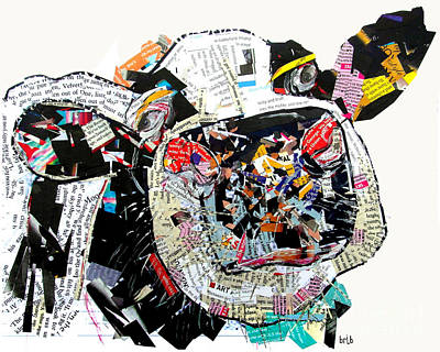 Cows Mixed Media - Not For Milkin by Bri B
