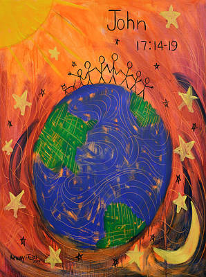 Earth Digital Art - Not Of The World John 17 14-19 by Anthony Falbo
