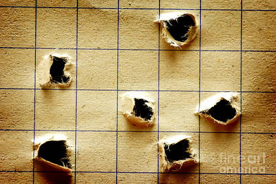 Brown Photograph - Notebook With Holes by Michal Bednarek