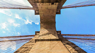 America Photograph - Nothin But Blue Skies Brooklyn by Charlie Cliques