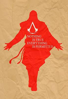 Revelation Mixed Media - Nothing Is True Assassin's Creed by Danilo Caro