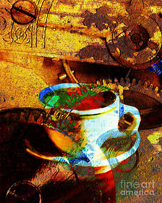 Surrealism Photograph - Nothing Like A Hot Cuppa Joe In The Morning To Get The Old Wheels Turning 20130718 by Wingsdomain Art and Photography