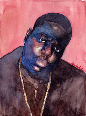 Rapper Painting - Notorious by Max Good