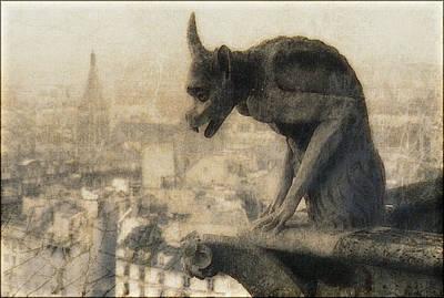 Notre Dame Cathedral Gargoyle Print by Douglas MooreZart