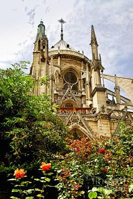 Notre Dame De Paris Print by Elena Elisseeva