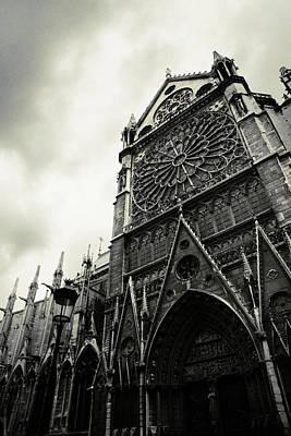 Front View Photograph - Notre Dame De Paris by Cambion Art