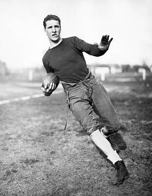 Indiana Photograph - Notre Dame Football Player by Underwood Archives