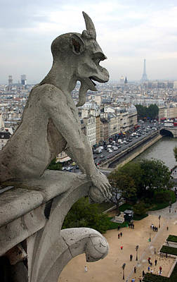 Gargoyle Photograph - Notre Dame Gaze by Mike Reid