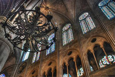 Notre Dame Interior Print by Jennifer Ancker